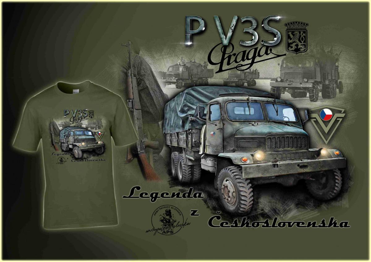 Praga V3S zelená LE009